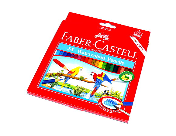 Faber Castell Watercolour Pencils Water Soluble Box 24 114464 PB614