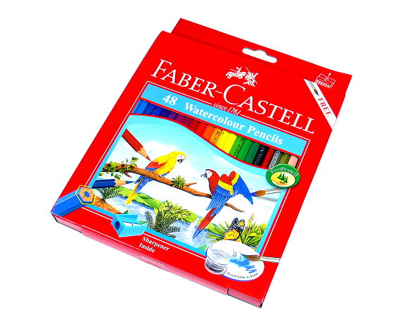 Faber Castell Watercolour Pencils Water Soluble Box 48 114468 PB618