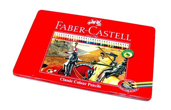 Faber Castell Classic Colour Pencils Tin Box 36 115846 PB644