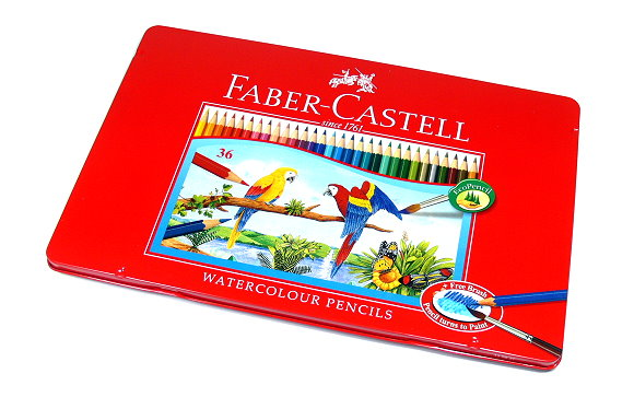Faber Castell Watercolour Pencils Water Soluble Tin Box 36 115937 PB630
