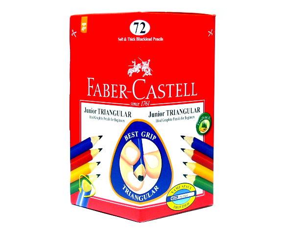 Faber Castell Graphite Pencils Grip Junior Triangular Blacklead 72 116572 PB670