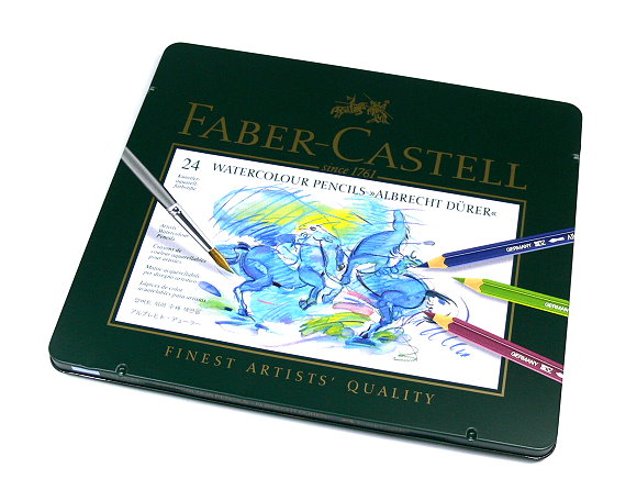Faber Castell Pencils Watercolour Pencils Water Soluble Tin Box 24 117524 PB382
