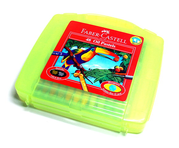 Faber Castell Playing & Learning Pastels Hexa Oil Pastel Bag 48 120090 PB504