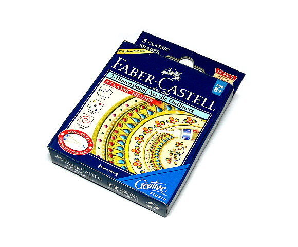 Faber Castell 3D Acrylic Outliners 5 CLASSIC SHADES 1209500 PB400