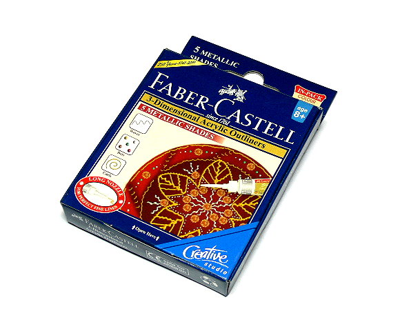 Faber Castell 3D Acrylic Outliners 5 METALLIC SHADES 1209502 PB404