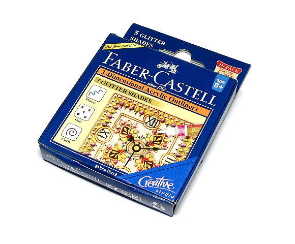 Faber Castell 3D Acrylic Outliners 5 GLITTER SHADES 1209503 PB406