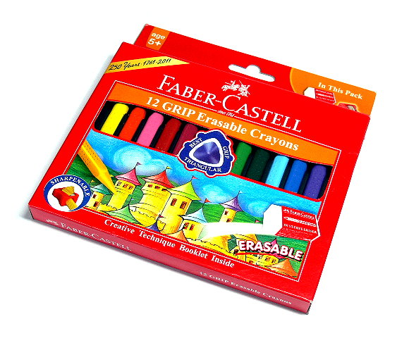Faber Castell Playing & Learning Crayons Grip Erasable Crayon 12 122912 PB536