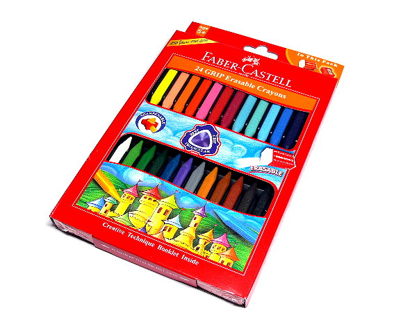 Faber Castell Playing & Learning Crayons Grip Erasable Crayon 24 122924 PB538