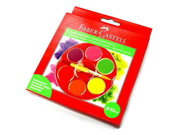 Faber Castell Others Watercolours Paint Box 6 Fluorescent Colours 125006 PB441