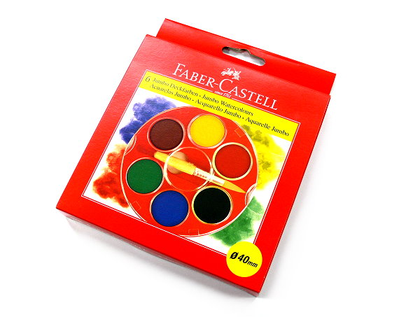 Faber Castell Others Watercolours Paint Box 6 Standard Colours 125007 PB442
