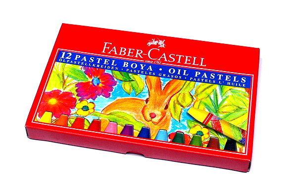 Faber Castell Playing & Learning Pastels Oil Hexagonal 75mm 12 125012 PB508