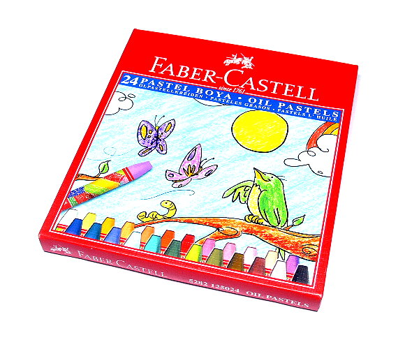 Faber Castell Playing & Learning Pastels Oil Hexagonal 75mm 24 125024 PB510