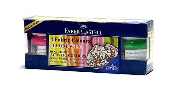 Faber Castell Others Fibric Color 4 Fluorescent Color 1410502 PB434