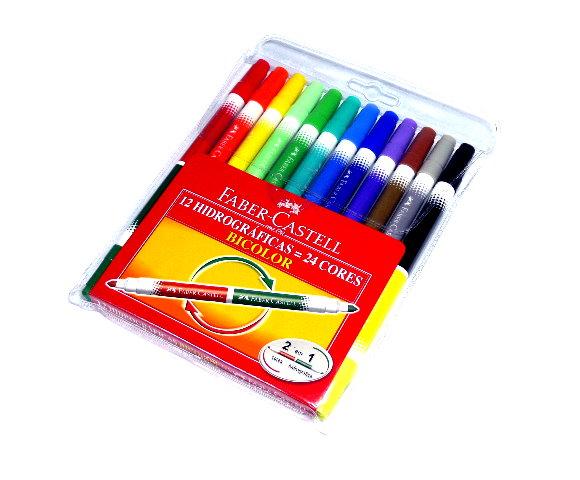 Faber Castell Colour Markers Bicolour Pens Wallet 12 150612 PB478