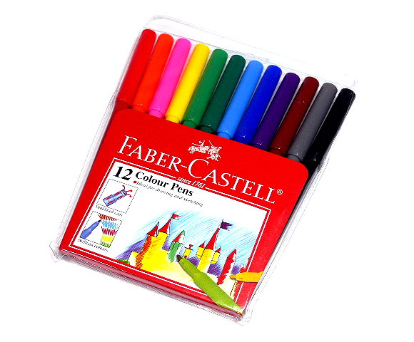 Faber Castell Colour Markers Magic Pens Wallet 12 154312 PB470