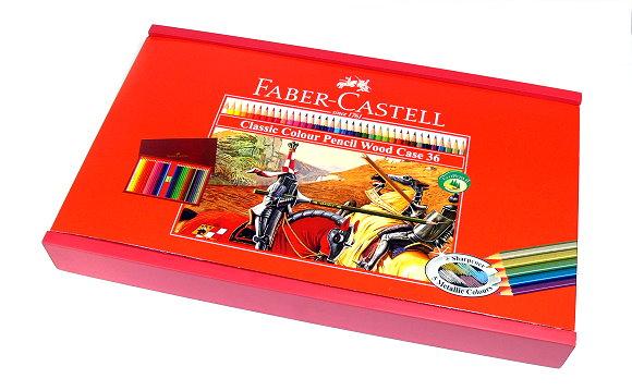 Faber Castell Classic Colour Pencils Wood Case 36 155601 PB655