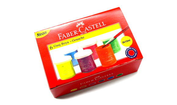 Faber Castell Other 6 Fluorescent Colours Gouache 160403 PB425