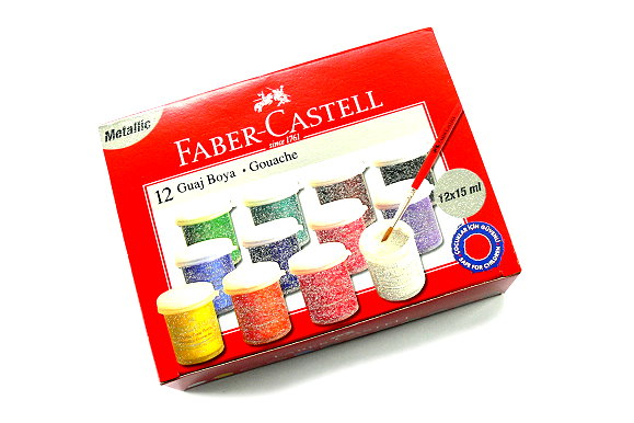 Faber Castell Other Paint 12 Glittered Colours Gouache 160404 PB422