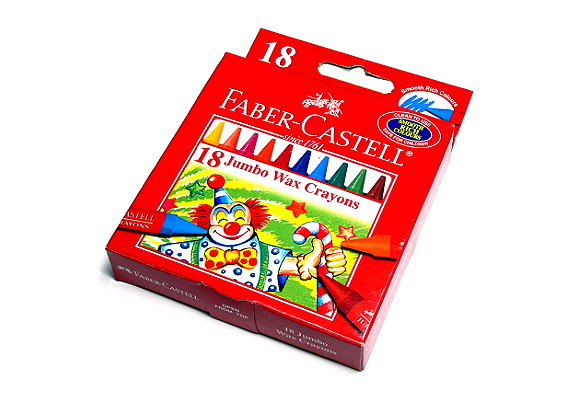 Faber Castell Playing & Learning Crayons Jumbo Wax Crayons 18 122518 PB527