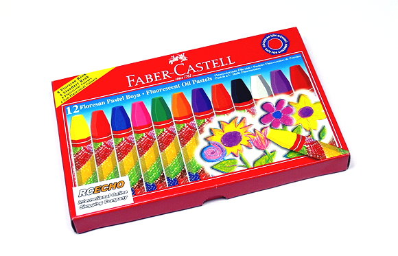 Faber Castell Playing & Learning Pastels Fluorescent Oil Pastels 12 125011 PB507