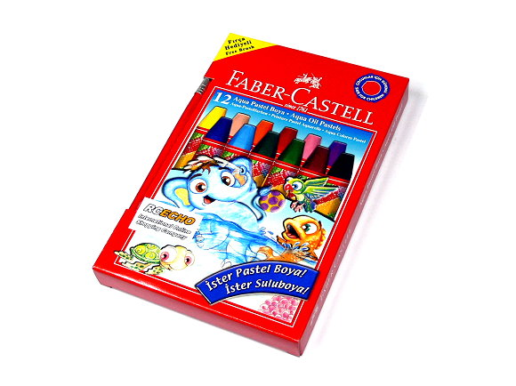 Faber Castell Playing & Learning Pastels Aqua Oil Pastels 12 125400 PB515