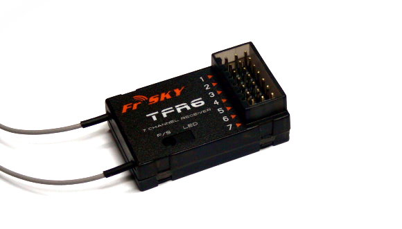 FrSky RC Model TFR6 7ch 2.4GHz R/C Hobby Receiver RV175