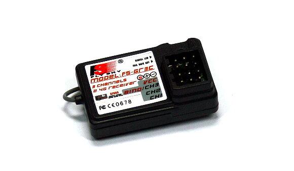 FLYSKY RC FS-GT3C 3ch 2.4GHz LCD GT3C Orange Transmitter & GR3C Receiver TS897