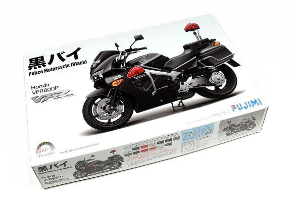 FUJIMI Motorcycle Model 1/12 Motorbike Honda VFR800P Police (Black) 141374 F1374