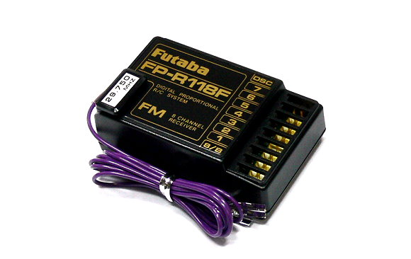 Futaba RC Model FP-R118F FM 29MHz 8ch R/C Hobby Receiver with Crystal RE479