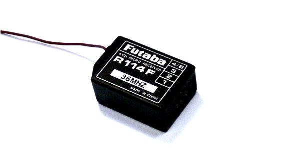 Futaba RC Model R114F FM 36MHz 4ch R/C Hobby Receiver with Crystal RE477