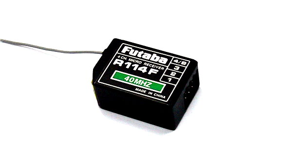 Futaba RC Modle R114F FM 40MHz 4ch R/C Hobby Receiver with Crystal RE478