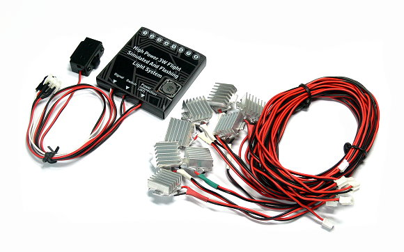GT POWER RC Hight Power 3W Flight Simulated And Flashing Light System LE845