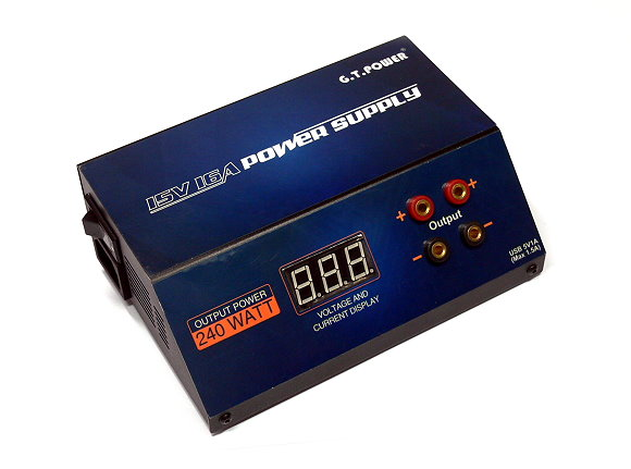 GT POWER RC Model AC 220V 15V 16A 240 Watt Power Supply (US Plug) PS583