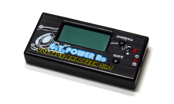 GT POWER RC Model 3 in 1 R/C Hobby Battery Voltage Analyzer BK330