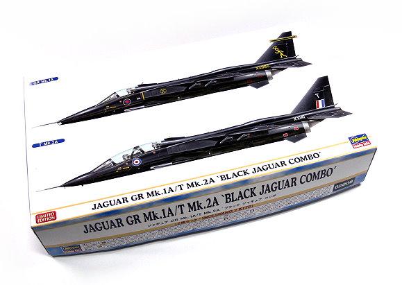 Hasegawa Aircraft Model 1/72 JAGUAR GR Mk.1A/T Mk.2A Black Combo 02008 H2008