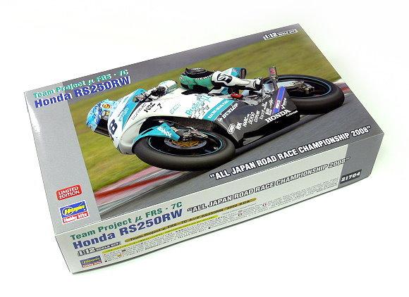 Hasegawa Motorcycle Model 1/12 Motorbike Team Project Honda RS250RW 21704 H1704