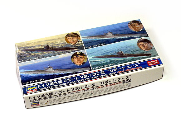 Hasegawa Military Model 1/700 War Ship German U-BOAT Aces VII/IXC 30034 H0004