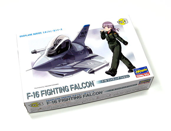 Hasegawa Aircraft Model Eggplane Series F-16 FIGHTING FALCON TH3 60103 H0103