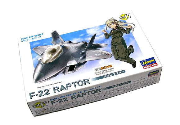 Hasegawa Aircraft Model Eggplane Series F-22 RAPTOR TH17 Scale Hobby 60127 H0127