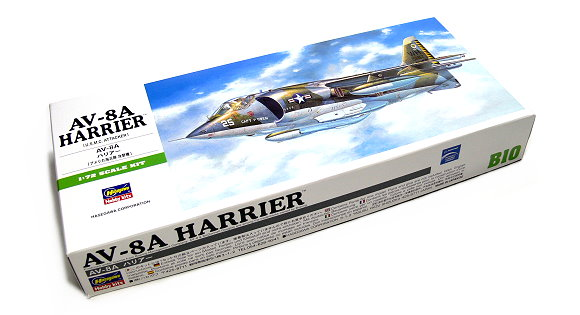 Hasegawa Aircraft Model 1/72 AV-8A Harrier U.S.M.C Attacker B10 00240 H0240