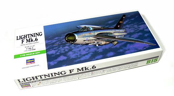 Hasegawa Aircraft Model 1/72 Lightning F Mk.6 Royal Air Force B15 00245 H0245