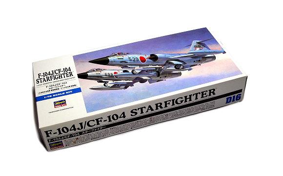Hasegawa Aircraft Model 1/72 F-104J/CF-104 Starfighter J.A.S.D.F D16 00446 H0446