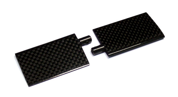 R/C Hobby Carbon Fiber 50mm RC Model Helicopter Stabilizer (1pair) BB700
