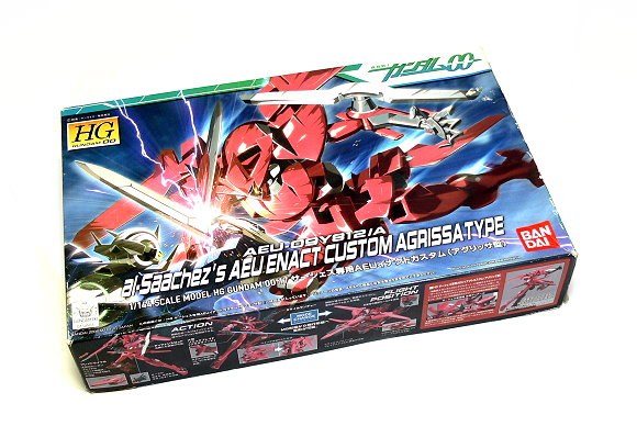 Bandai Hobby Gundam 00 Model 1/144 HG 17 AEU Enact Custom Agrissa 0154503 GH384