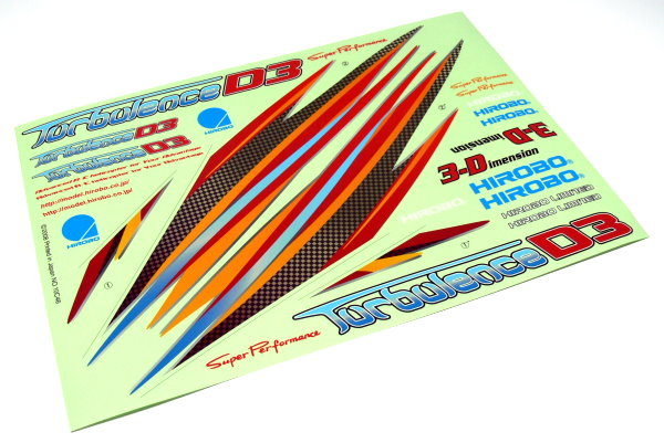 Hirobo RC Model Turbulence D3 0414-504 Helicopter Decal DE675