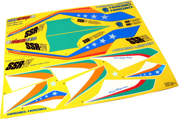 Hirobo RC Model SST-EAGLE2-EX98 0404-798 Helicopter Decal DE665