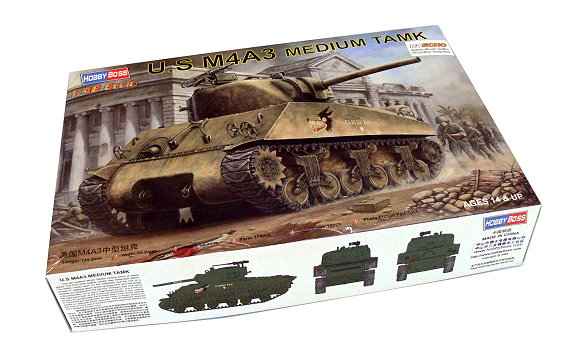 HOBBYBOSS Military Model 1/48 US M4A3 Medium Tamk Scale Hobby 84803 B4803