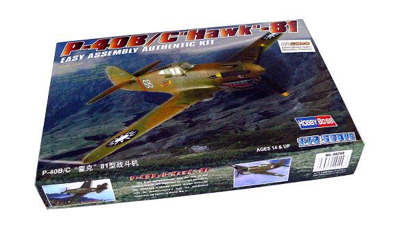 HOBBYBOSS Aircraft Model 1/72 P-40B/C Hawk 81 Scale Hobby 80209 B0209