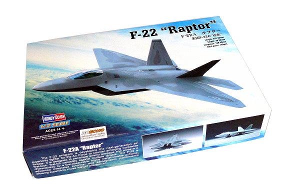 HOBBYBOSS Aircraft Model 1/72 F-22 Raptor Scale Hobby 80210 B0210