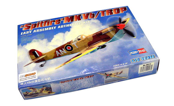 HOBBYBOSS Aircraft Model 1/72 Spitfire MKVb/TROP Scale Hobby 80213 B0213
